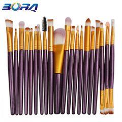 20Pcs/Set Makeup Brushes Powder Brush/Eye Shadow Brush/Foundation Brush Makeup Tools Beauty purple