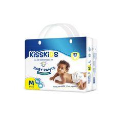 KISSKIDS 32Pcs Super Dry Baby Pants Size 3(6-11 Kg) as picture m