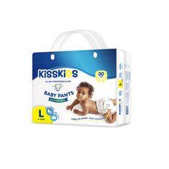 KISSKIDS 30Pcs Super Dry Baby Pants Size 4(9-14 Kg) as picture l