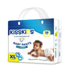 KISSKIDS 28Pcs Super Dry Baby Pants Size 4+(12-17 Kg) as picture xl