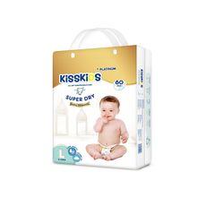 KISSKIDS 60Pcs Platnum Super Dry  Baby Diaper Size 4(9-14 Kg ) as picture l