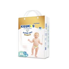 KISSKIDS 56Pcs Platnum Super Dry Baby Diaper Size 4+(12-17 Kg ) as picture xl