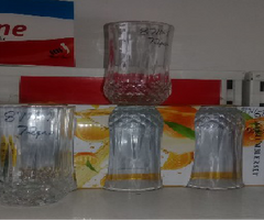 Urhome 6pcs High Quality Spiral Glass Glassware Cup(8707 GLASS CUP 217ML 72PCS) as the picture 217ml