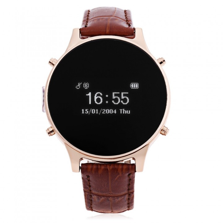 MT360 Bluetooth 4.0 Smart Watch Brown One Size