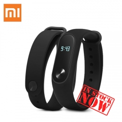 Original Black Xiaomi MiBand 2 Bluetooth 4.0 Smart Heart Rate LED Display 20 Days Battery black one size