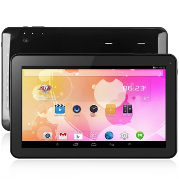 10.1 inch A33 Android 4.4 Tablet PC All Winner A33 Quad Core 1.3GHz WSVGA Screen Cameras 8GB ROM black