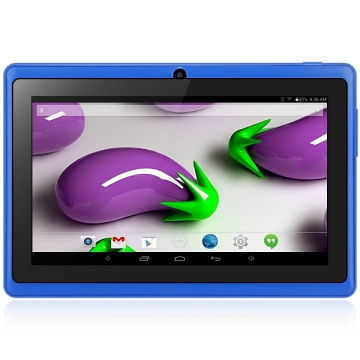 7 inch Q88H A33 Android 4.4 Tablet PC WVGA Screen A33 Quad Core 1.2GHz 512MB RAM 8GB ROM blue