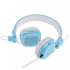 JKR 112 3.5MM Plug Foldable Wired Stereo HiFi Music Headphones Headset blue