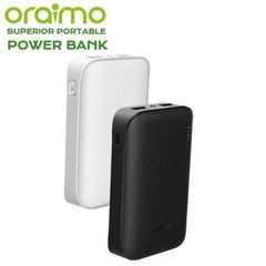 Oraimo 6600mAh Superior Portable Power Banks Dual Output with LED Light Black 6600mAh