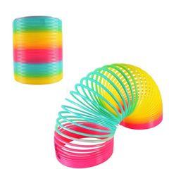 New large rainbow circle spread children's toys 8.7*9 rainbow circle children's spring ring toy A-as picture