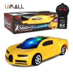 Remote Control Car Toy For Children Kids RC Sprotcar Supercar Bugatti Birthday Christmas Gift B-yellow 17.5x7x3.5cm