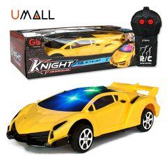 Remote Control Car Toy For Children Kids RC Sprotcar Supercar Bugatti Birthday Christmas Gift L-yellow 17.5x7x3.5cm