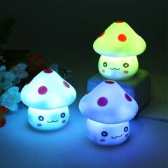 Colorful LED Night Light Mushroom Lamp Baby Children Room Christmas Decoration Colorful Home Decor Colorful 6x5.6x5.6cm