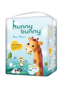 Hunny Bunny Baby Diapers Small (4-8 Kg), Count 48 Pcs stylish prints small