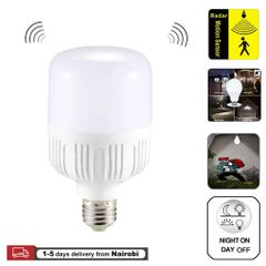Motion Sensor Light E27 Bulbs 20W Motion Activated Dusk to Dawn Security Light Bulb for Hallway White light led 20W
