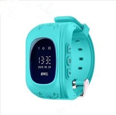 2021 New Year gift GPS Smart Kid Safe smart Watch SOS Call Location Finder Locator Tracker BLUE One size