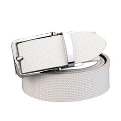 Hot Sale Men Belt Casual High Quality Fashion Genuine Leather Male Luxury Strap blackwhite 110cm