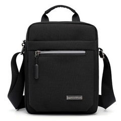 2021 New Year gift Men's Shoulder Bag Business Messenger BagsWaterproof oxford Travel Crossbody Black one size
