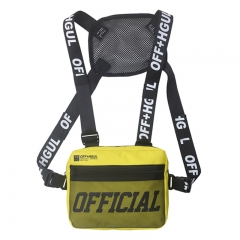 2021 New Year gift Men Bag Tactical Vest Crossbody Chest Bags Punck Chest Rig Vest Waist Bag Yellow one size