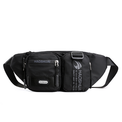 2021 New Year gift Men's Nylon Bags On a Belt Kidney Fanny Pack Casual Travel Autumn New Men Pouch Black one size