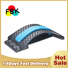 Hot sale Stretch Equipment Massager Magic Stretcher Fitness Lumbar Support Relaxation Spine Relief blue as picture