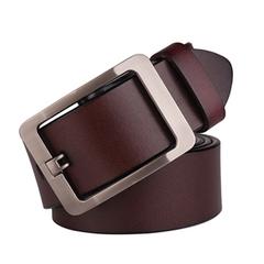2021 New Year gift Hot sale luxury strap belts for men  fashion classice vintage buckle men belt brown 110cm