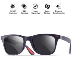 Sunglasses Men Fishing Polarized Sunglasses Men Women Driving Square Style Sun Glasses Male Goggle Blue one size