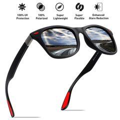 Sunglasses Men Fishing Polarized Sunglasses Men Women Driving Square Style Sun Glasses Male Goggle Black one size