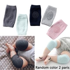 FBK 2 Pairs baby knee pad kids safety crawling elbow cushion infant toddlers protector baby kneecap Random color 2 Pairs one size