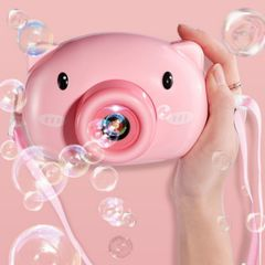 Automatic toy camera cartoon pig baby bubble machine outdoor automatic bubble gift kid girl boy picture 3