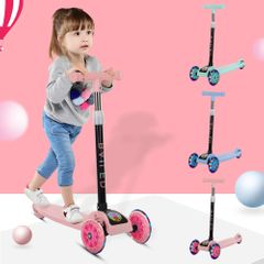 Children's Balance Bike Tricycle Children's Scooter 3 In1 Flash Folding Scooter Scooter Ride On Toys Pink one size