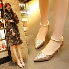 SO beautiful high heels ladies heels ladys heels for womens shoes heels girls shoes gold 36