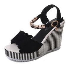 Beautiful black heels ladies shoes heels High waterproof platform high heel shoes for womens heels black 38