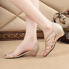 YOYO beautiful ladys shoes hells for lady wedges shoes heels women shoes heels ladies shoes heels Gold 39