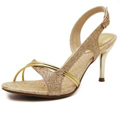 High-end Wedding shoes party shoes women shoes heels Women's Shoes  Elegant ladies'shoes women shoes Gold 38