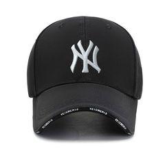 Unisex Baseball NY Fahsion Hat Canvas Cap men women Sport Cap | topi Lelaki perempuan black(White letters) one size