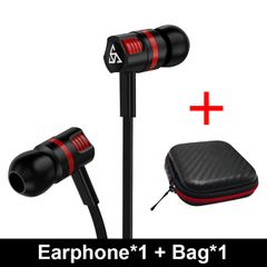Earphone & Headset Super Bass Headset with Microphone Stereo Earbuds for Mobile Phone black
