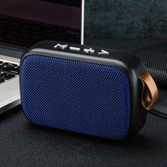 TF Card Bluetooth Wireless Speake Surround  FM Wireless Stereo Sound Home Mini Portable Rechargeable blue one size