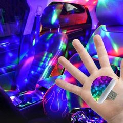 Multi Color DJ USB LED Car Interior Lighting Kit Atmosphere Light Neon Colorful Interior Accessorie Color combination one size