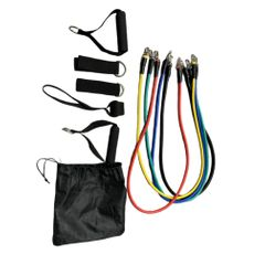 Resistance Bands Home Fitness Workouts Set Chest Expander Door Anchor Legs Ankle  Indoor Sports as picture one size
