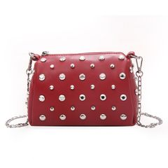 women's Bag 2021 new small square bag texture Joker simple one shoulder portable messenger bag red