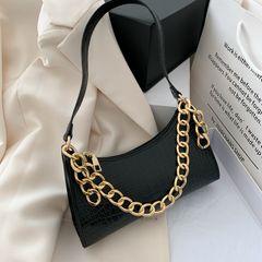 women's Bag 2021 new small square bag texture Joker simple one shoulder portable messenger bag black