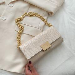 Underarm bag 2020 new fashion Joker crocodile pattern retro shoulder messenger bag chain bag white