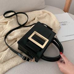 Bag women's 2020 new small square bag texture Joker simple one shoulder portable messenger bag black