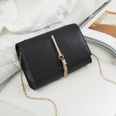 Women bags 2021 new Shoulder Bag solid sling bags ladies bags tassel handbags black