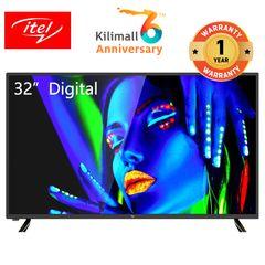 (Special offer) itel 32 inch Digital LED TV HD Crystal Clear Screen D3210AE black 32 inch