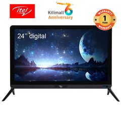 (Limited offer) itel 24 inch USB Play Digital LED TV with Blue Light Proof Glass D2430AE black 24 inch