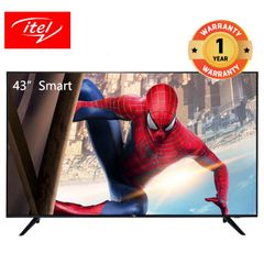 itel 43 inch Smart TV with frame less design and Dolby audio I4310AE black 43 inch