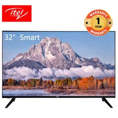 itel 32 inch Smart TV with frame less design and Dolby audio I3210AE black 32 inch