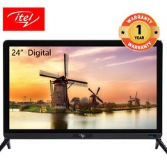 itel 24 inch USB Play Digital LED TV with Blue Light Proof Glass D2430AE black 24 inch